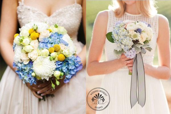 Blue Hydrangea Accented Bouquets