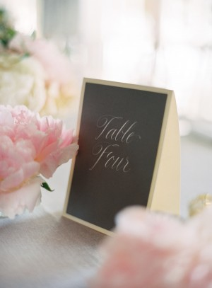 Chalkboard Calligraphy Table Number