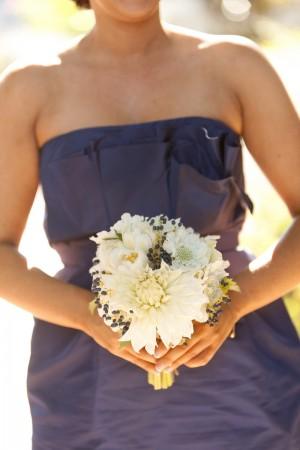 Dahlia and Privet Berry Bouquet