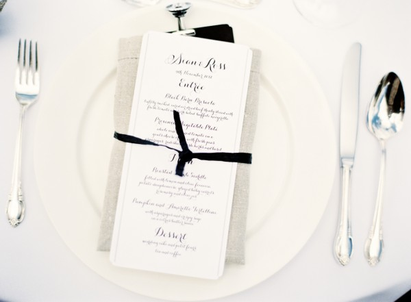 elegant black and white wedding menu elizabeth anne designs the