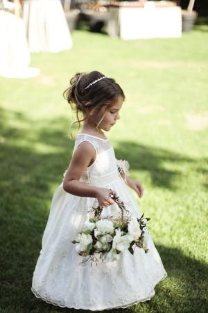 Elegant Flower Girl Basket