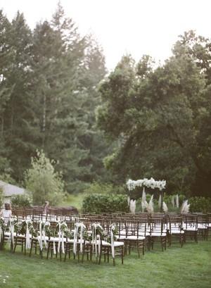 Elegant Organic Outdoor Wedding Ceremony