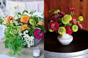 Farm Inspired Wedding Flowers
