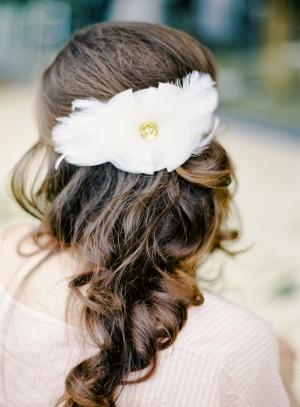 Feather Bridal Hair Piece