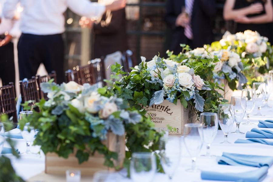 French vineyard inspired wedding centerpieces elizabeth