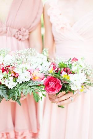 Garden Inspired Bridesmaids Bouquets