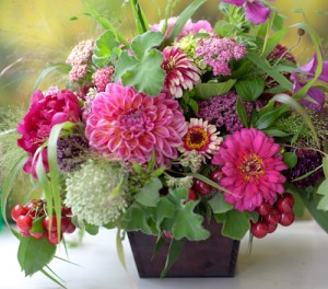 Garden Picked Wedding Flowers