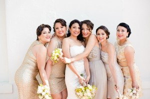 Gold and Glam Bridal Party