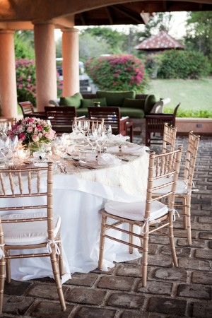 Gold and Pink Wedding Reception