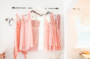 Hand Dyed Pink Bridesmaids Dresses