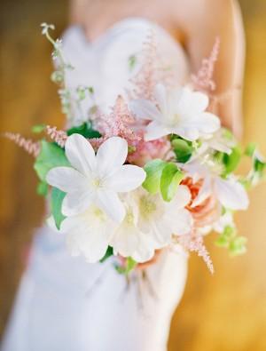 Clematis Astilbe Wedding Bouquet