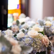 Hydrangea and Rose Wedding Flowers