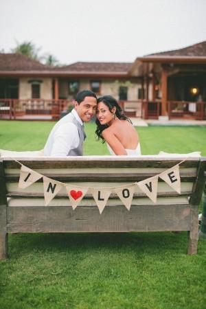 In Love Wedding Bunting