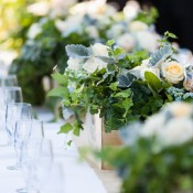 Ivy Wedding Centerpieces
