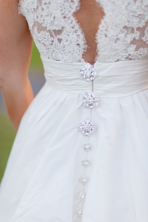 Lace and Crystal Wedding Gown Details
