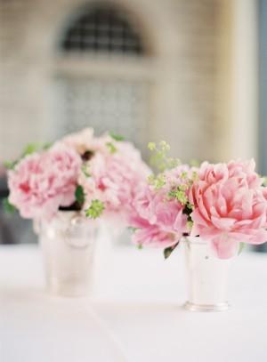 Mint Julep Cup Wedding Centerpieces
