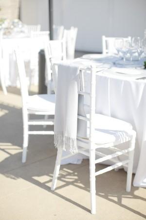 Modern White Wedding Reception