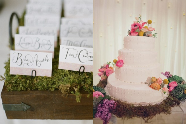 Moss Organic Wedding Reception Details