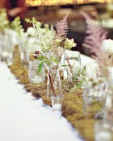 Moss Wedding Table Runner