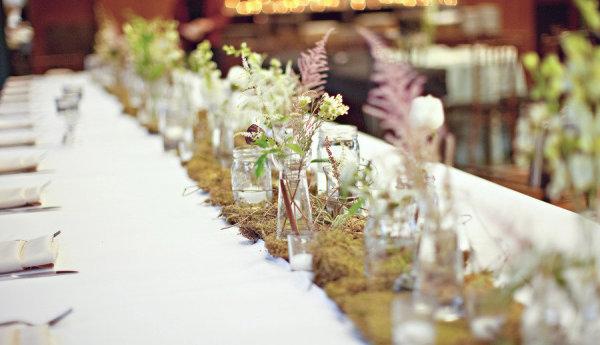 Moss Wedding Table Runner