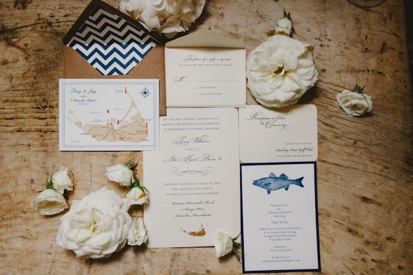 Nantucket New England Wedding Invitations