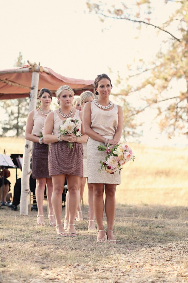Natural Colored Casual Bridesmaids Dresses