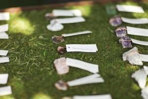Natural Gemstone Escort Cards