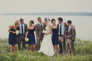 Nautical Inspired Wedding Party