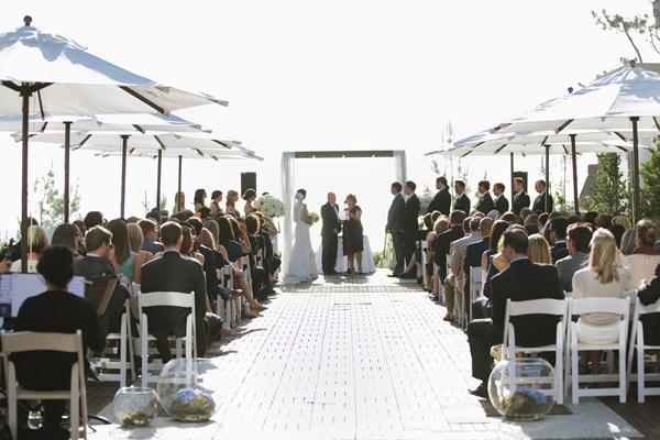 Outdoor Beach Wedding Reception
