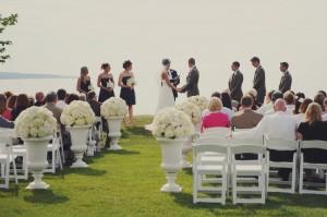 Outdoor Waterfront Wedding Ceremony