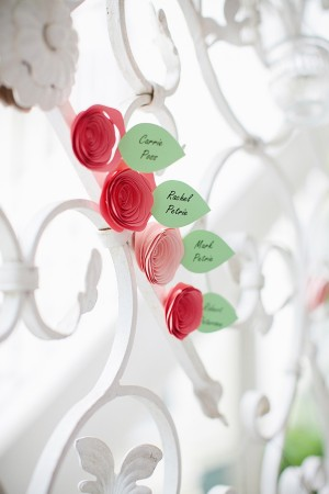 Paper Flower Escort Cards