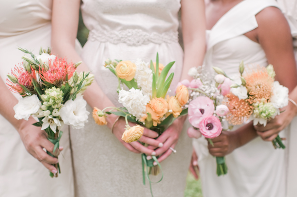 Peach Pink Coral Sorbet Inspired Wedding Florals