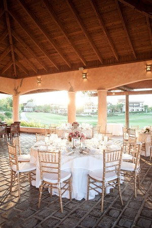 Pink Ivory and Gold Wedding Reception