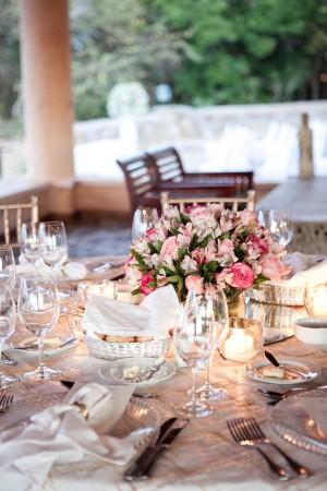 Pink Silver Wedding Reception