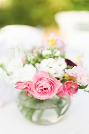 Pink And White Flower Centerpiece