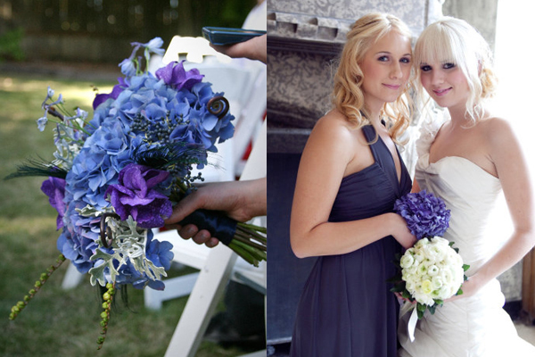 Purple Blue Hydrangea Bouquets