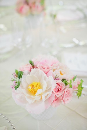 Rose Peony Wedding Centerpiece
