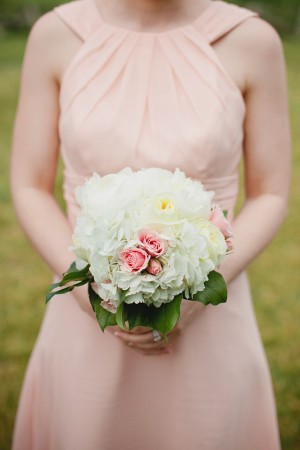 Rose and Hydrangea Bridesmaids Bouquet