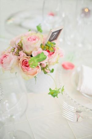 Rose and Ivy Wedding Centerpiece