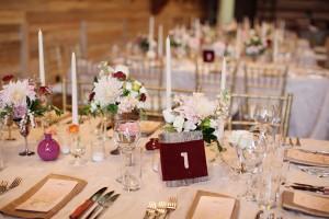 Rustic Wedding Reception Tablescape