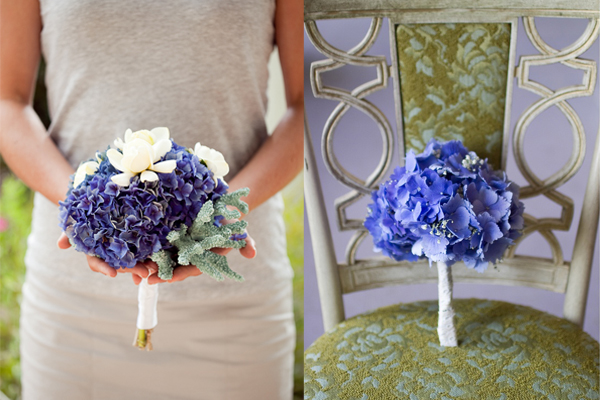 Small Blue Hydrangea Bouquets