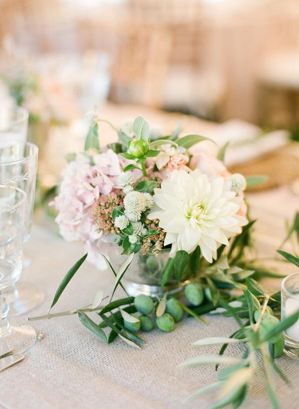 Small white wedding centerpiece elizabeth anne designs