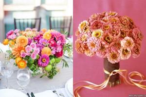 Sorbet Colored Wedding Flowers