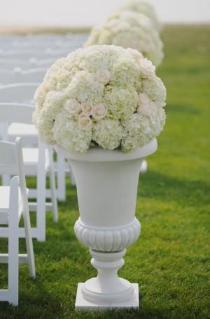 Tall Wedding Ceremony Floral Arrangements