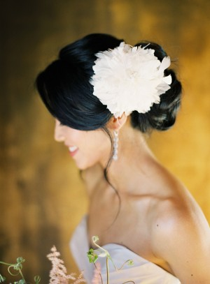 Twigs and Honey Wedding Headpiece Feather