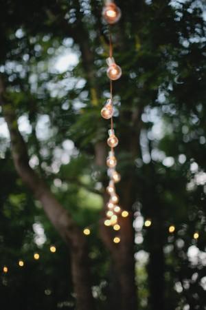 Wedding Reception Christmas Light Bulbs