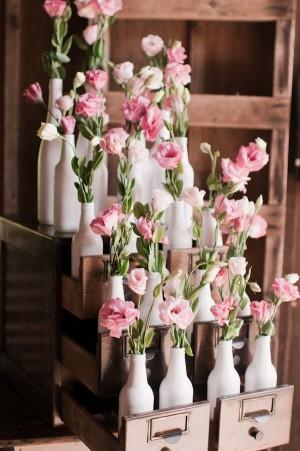 White Bottle Vases