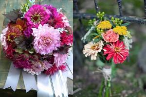 Zinnia Wedding Bouquets