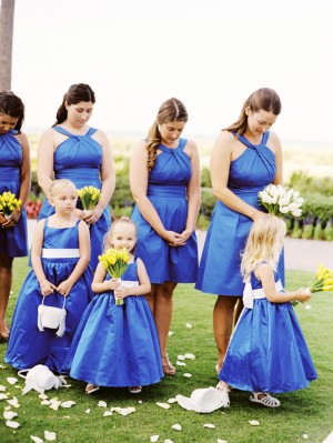 Blue Bridal Party Dresses