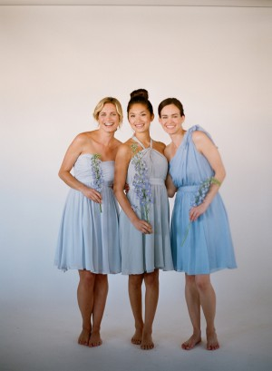 Blue Bridesmaids Dresses Little Borrowed Dress 3